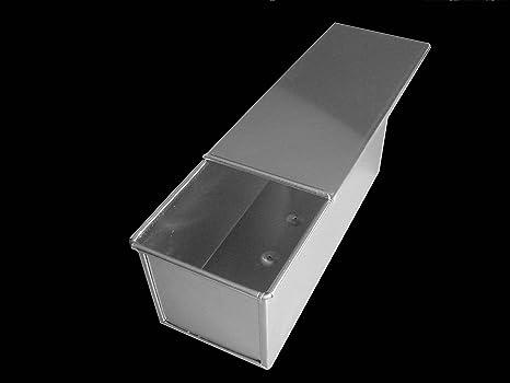 Caja de pan molde rectangular de pan Pullman 1500 G Sandwich Pan con tapa, de