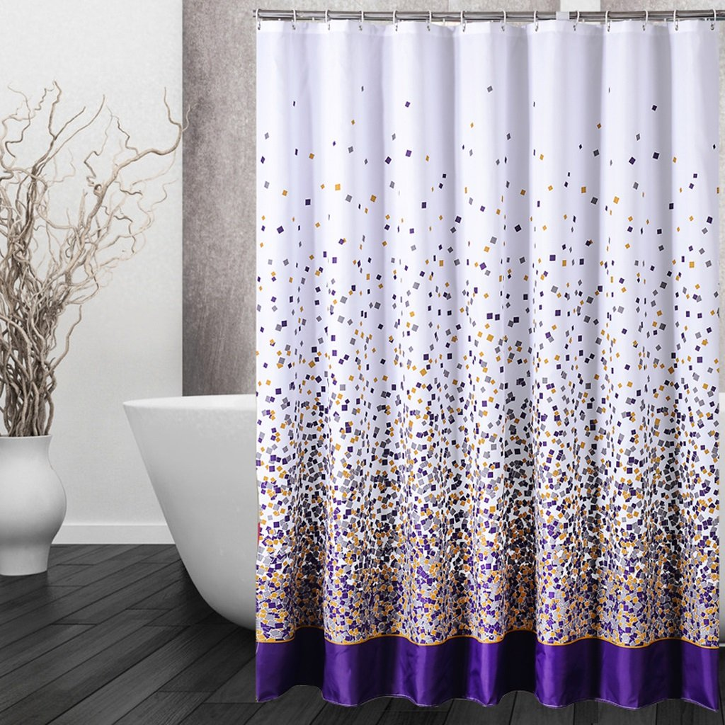 Curtain Shower Curtain, Mildew Waterproof Shower Curtain, Padded Polyester Shower Curtain, Environmental Printing and Dyeing, Safety and Health Shower Equipment (Size : 180200cm)