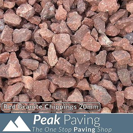 Peak Paving Sunset Red Decorative Aggregate Stone Chippings Garden Gravel 20mm 20Kg