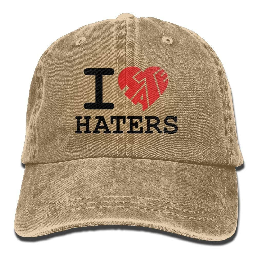 Ameok-Design I Love Haters - Gorra de béisbol Ajustable para Mujer ...