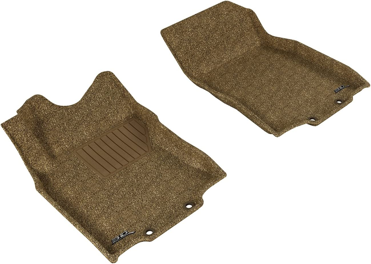 Gray Classic Carpet 3D MAXpider Front Row Custom Fit Floor Mat for Select Nissan Rogue Models