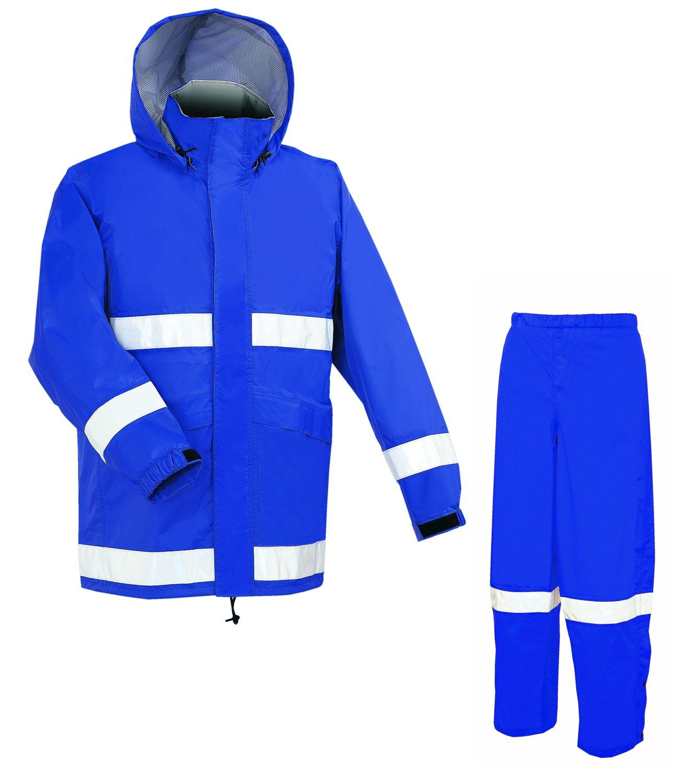 [アプトレインハイ] アプトプロ ヘルメット 対応 レイン スーツ 上下 防水透湿 ネイビーブルー AP700-NB B01N9SVUYO S