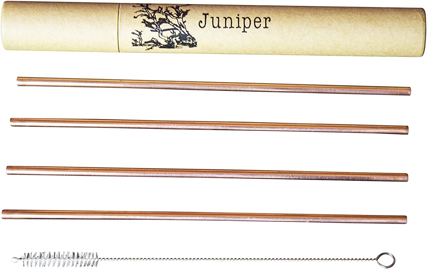 SET OF 6 Pure Copper Straw 7.5 Inch SAVE ENVIRONMENT!!!
