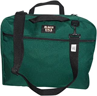 product image for Briefcase with Full Outside Pocket and Two Inside Pocket,Soft Briefcase, Made in U.s.a. (Forest Green)