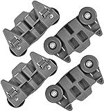 W10195416V W10195416 Dishwasher Wheels Lower Dish Rack Wheel with Steel Screws