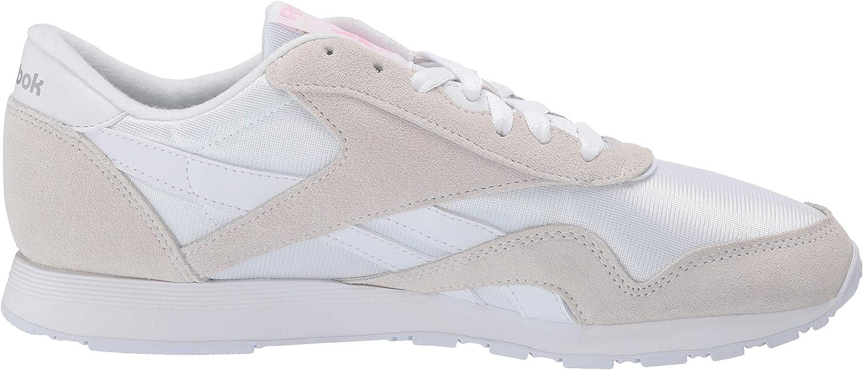 Reebok Cl Nylon, Chaussures de Fitness garçon Classic White Light Grey 2
