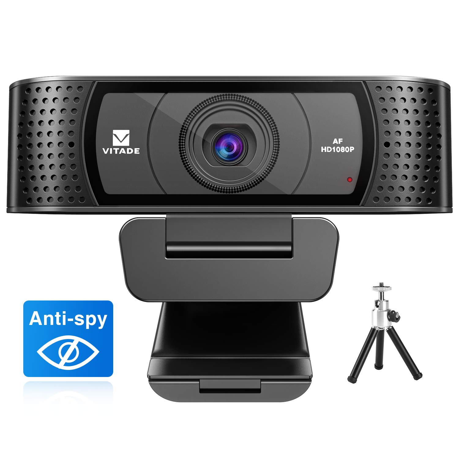 Webcam 1080P with Microphone & Cover, Vitade 928A USB HD Desktop Web Camera Video Cam for Streaming Gaming Conferencing Mac Windows PC Computer Laptop Xbox Skype OBS Twitch YouTube (Tripod Included) by Vitade