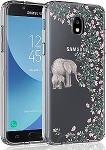 Case for Samsung Galaxy J3 2018/J3 V 2018/J3 Achieve/Express Prime 3/Amp Prime 3/J3 Eclipse 2/J3 Prime 2/J3 Star/J3 Orbit/Sol 3/J3 Aura/J3 Emerge 2018, SYONER Ultra Slim Clear Phone Case [Elephant]