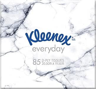 KLEENEX Everyday Facial Tissues Cube, 85 sheets