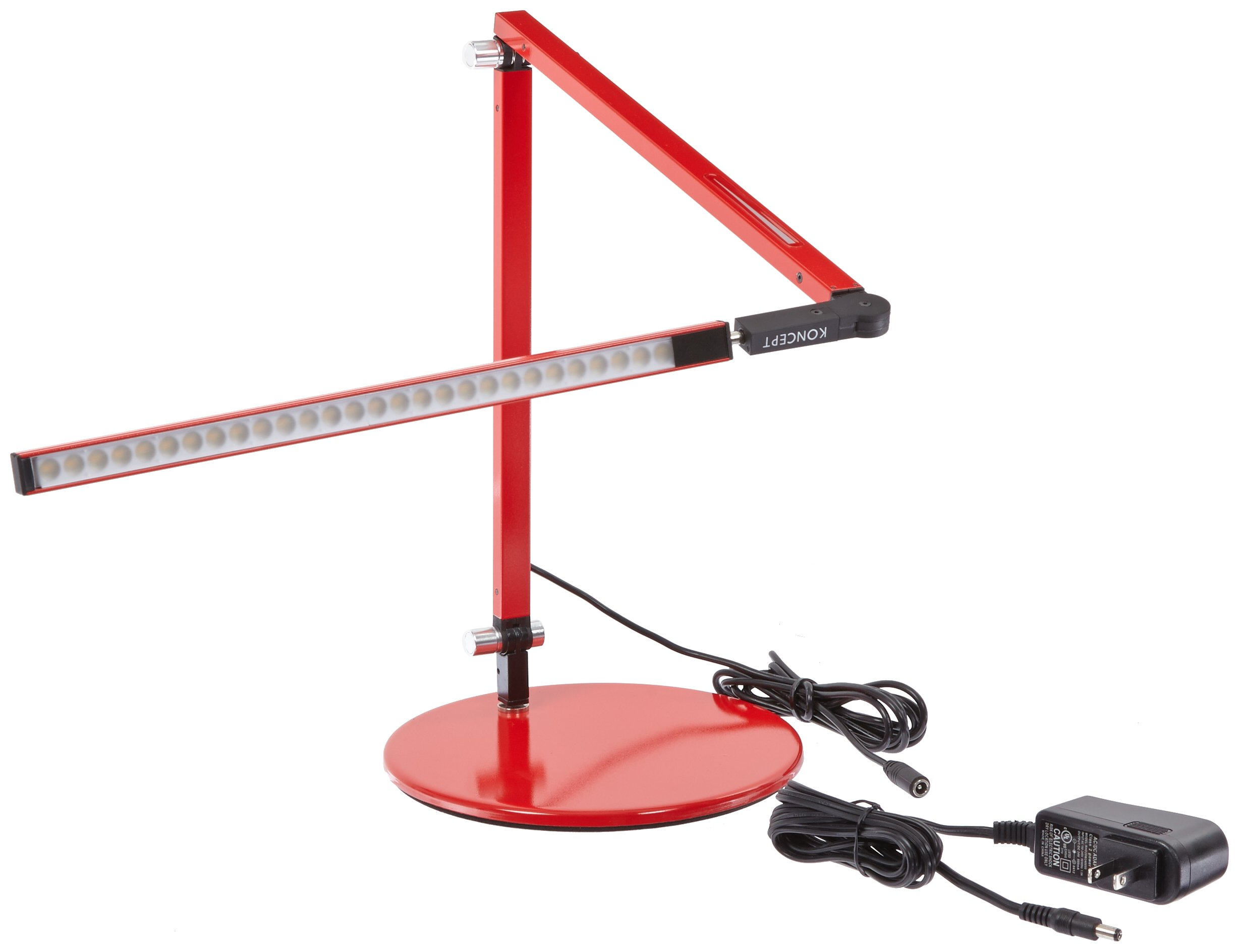 Koncept AR3100-W-RED-DSK Z-Bar Mini LED Desk Lamp, Warm Light, Red