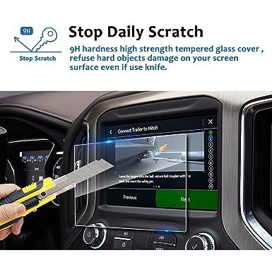 LFOTPP 2019 GMC Sierra 1500 8 Inch IntelliLink Car Navigation Screen  Protector, [9H] Tempered Glass Center Touch Screen Protector Anti Scratch  High