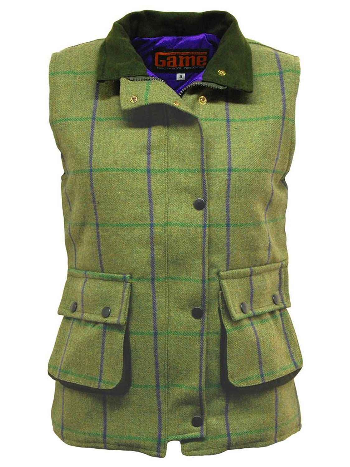Ladies Check Tweed Bodywarmer