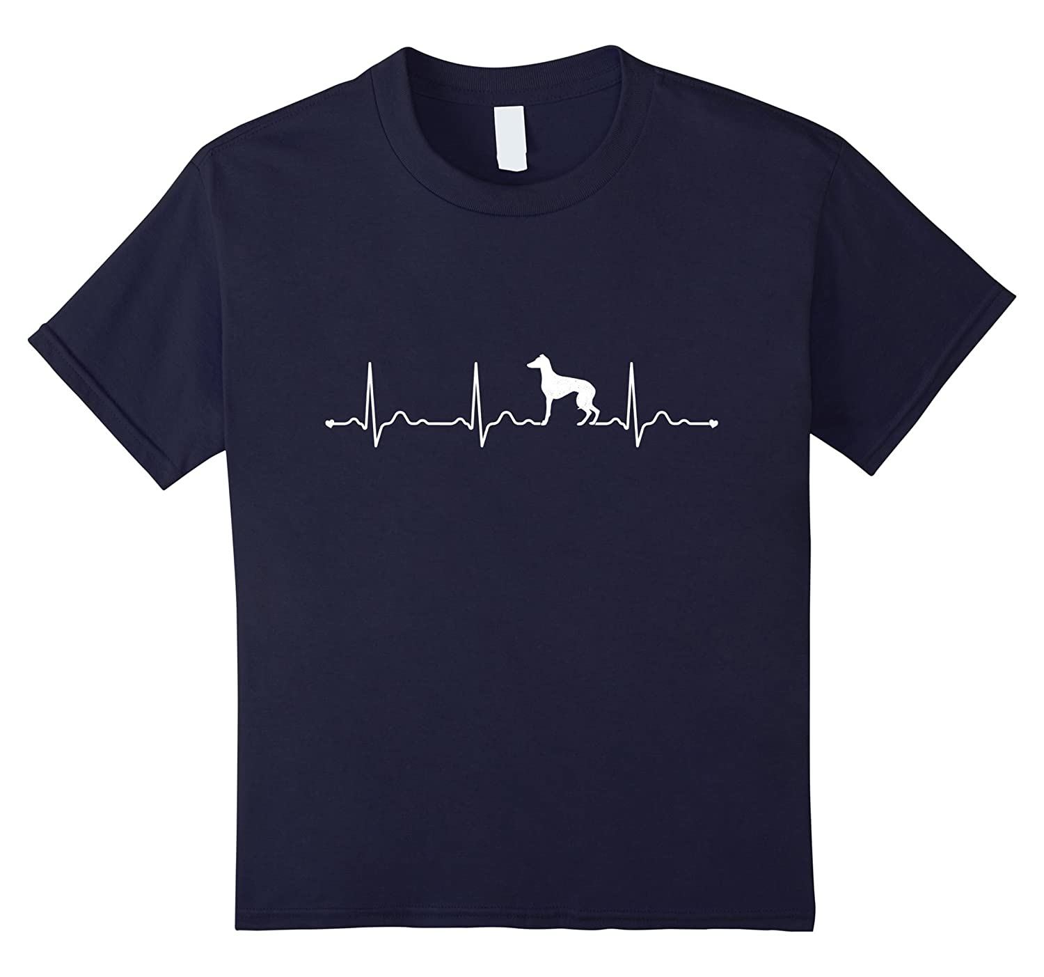 Mens Greyhound Heartbeat T Shirt Black-Veotee