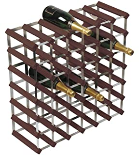 Rta 42 Bottle Wine Rack 6x6 Dark Pine Galvanised Steel Ready Assembled Wnrk4109
