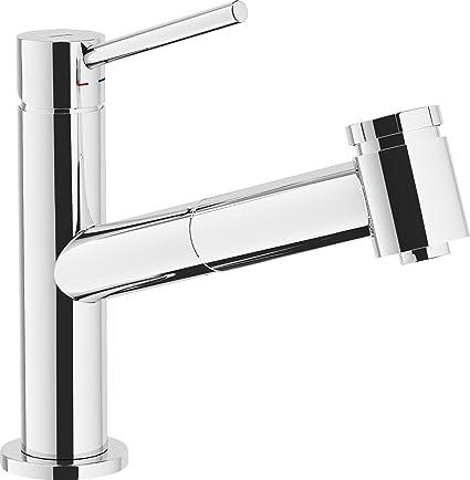 Nobili Rubinetterie Aq93117 Miscelatore Monocomando per lavello da ...