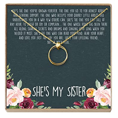 Dear Ava Sisters Necklace Sister Gift For Birthday