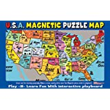 The 50 States Book and Magnetic Puzzle Map Readers Digest