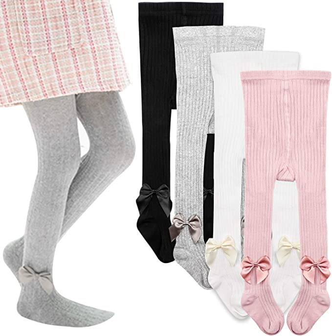 Baby Girl Children Kids Patterned Cotton Blend Tights Size 6 Months 8 Years