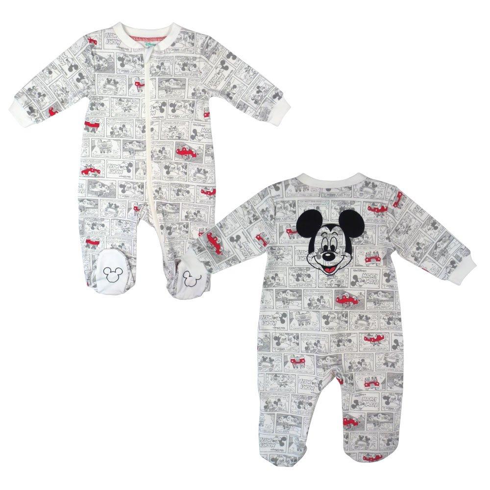 Disney Baby Boy's Mickey Footed Sleeper, Print, 3M DS18NB467
