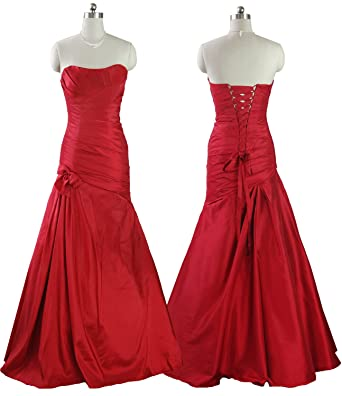 QPID SHOWGIRL RED TAFFETA BALL GOWN BRIDESMAID EVENING DRESS PROM DRESS FIT & FLARE UK SIZE