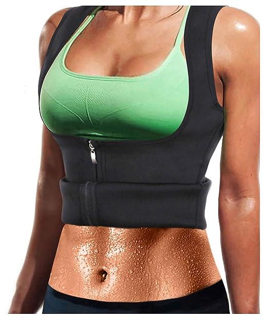 863e60b5d773c LODAY Women Neoprene Sauna Sweat Waist Trainer Vest with Zipper for Weight  Loss Gym Workout Body