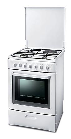 meilleur service 4b5c7 e830b Electrolux EKM600301 W Cuisinière Mixte Gaz et Electrique Largeur : 60 cm  Classe: A