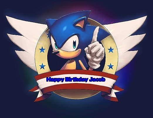 Sonic el erizo imagen comestible hoja de Azúcar pastillaje ...