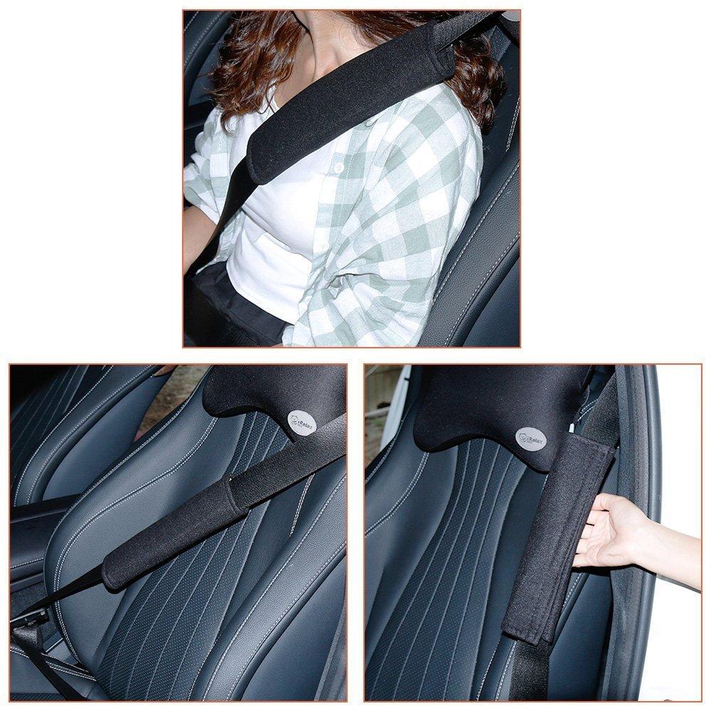 Nero Amaza Copri Cintura di Sicurezza Auto Protezioni Sicurezza Pillow Spalla Pacchetto di 2