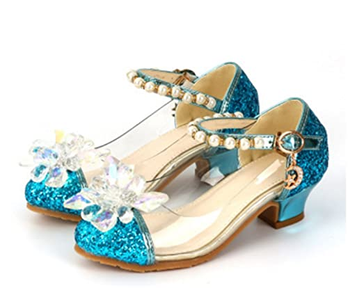 dcff4728 YOGLY Zapatos para Niñas Princesa Zapatos Tacones Altos Baile Zapatos de  Diamantes de Imitación de Niña: Amazon.es: Zapatos y complementos