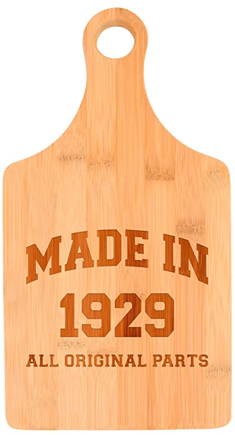 Amazon 90th Birthday Gifts For Grandma Made 1929 All Original Parts Gift Ideas Paddle Shaped Bamboo Cutting Board Kitchen Dining