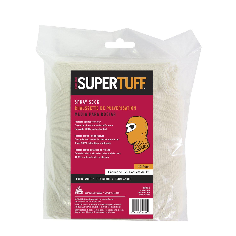 Trimaco SuperTuff Cotton Spray Sock, 12 Pack