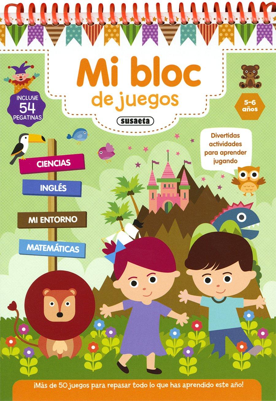 Mi bloc de juegos 5-6 años MI bloc de juegos y pegatinas: Amazon.es: Equipo  Susaeta: Libros