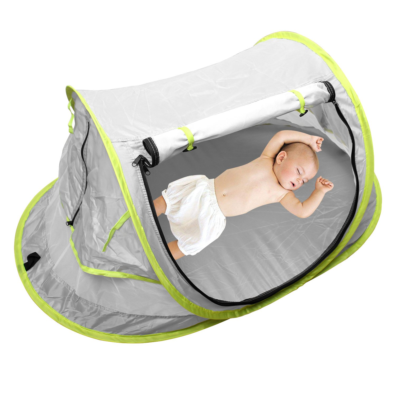 StillCool Cuna plegable portátil Pop Up Beach Tent Sun Shelter con 2 clavijas plegables cuna infantil Mosquitera