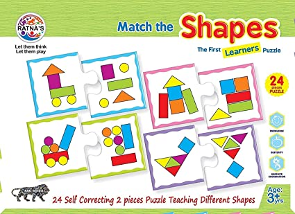 Ratnas Educational Jigsaw Puzzle Range for Kids (Shapes)