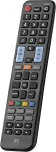 One For All Samsung TV Replacement Remote – Works with All Samsung TVs (LED, LCD, Plasma) – Ideal TV Replacement Remote Control with Same Functions as The Original Samsung Remote - Black – Urc1810