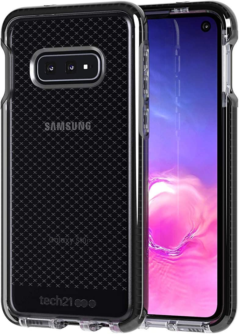 tech21 - Evo Check - Phone Case for Samsung Galaxy S10e - Ultra Slim, Anti-Microbial - Drop Protection of 12FT or 3.6M - Bulk Packaging - (Smokey/Black)