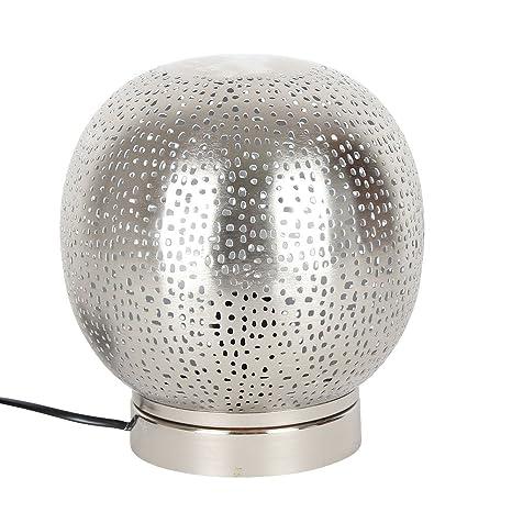 Marrakesch - Lámpara de mesa noche lámpara de mesa plata ...