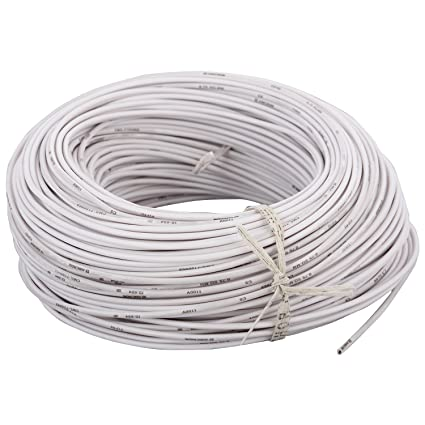 Anchor Insulated Copper PVC Cable 0.75 Sq mm Wire (White)