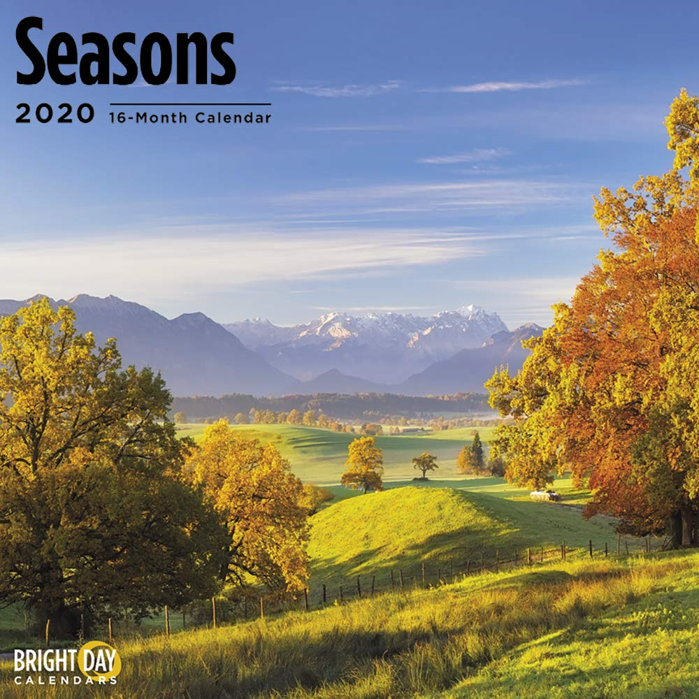 Fall Season 2020.2020 Seasons Wall Calendar By Bright Day 16 Month 12 X 12 Inch Winter Summer Spring Fall Landscape