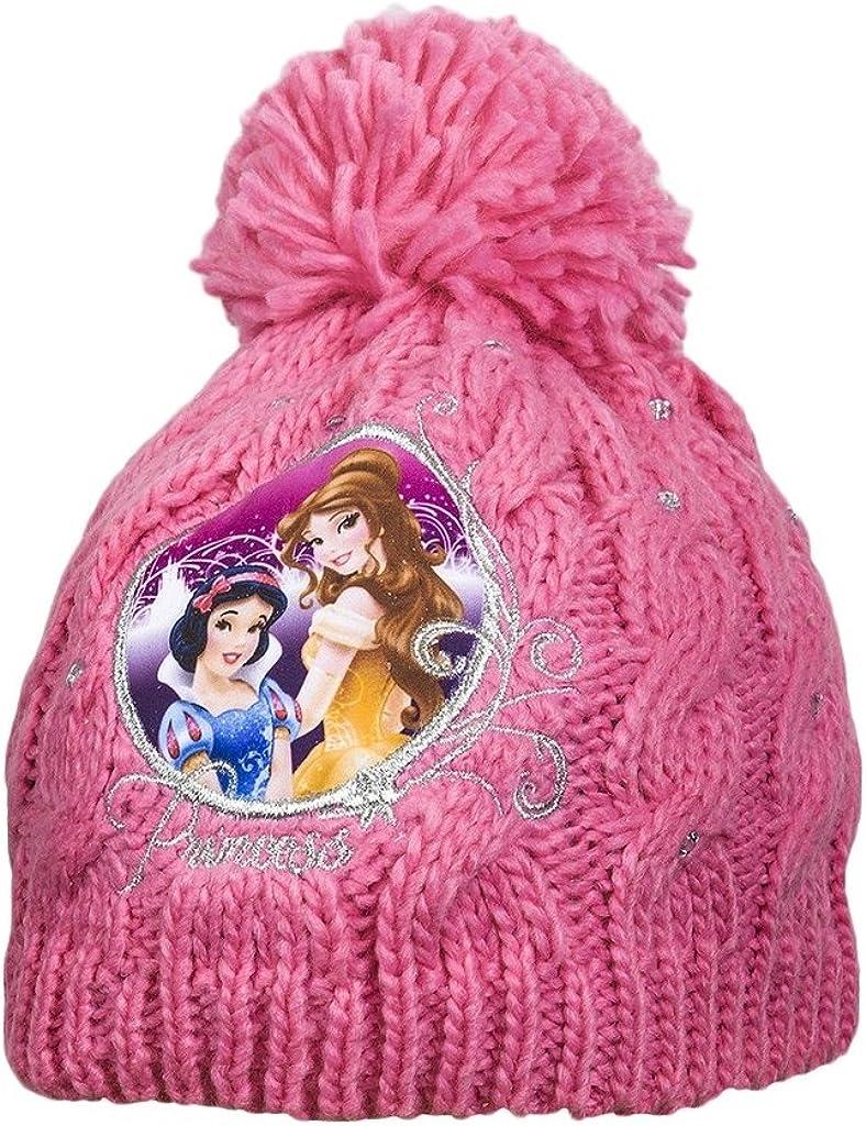 Disney Official Girls Princess Beanie Bobble Diamante/Hat Snow White Sleeping Beauty Age 2-9