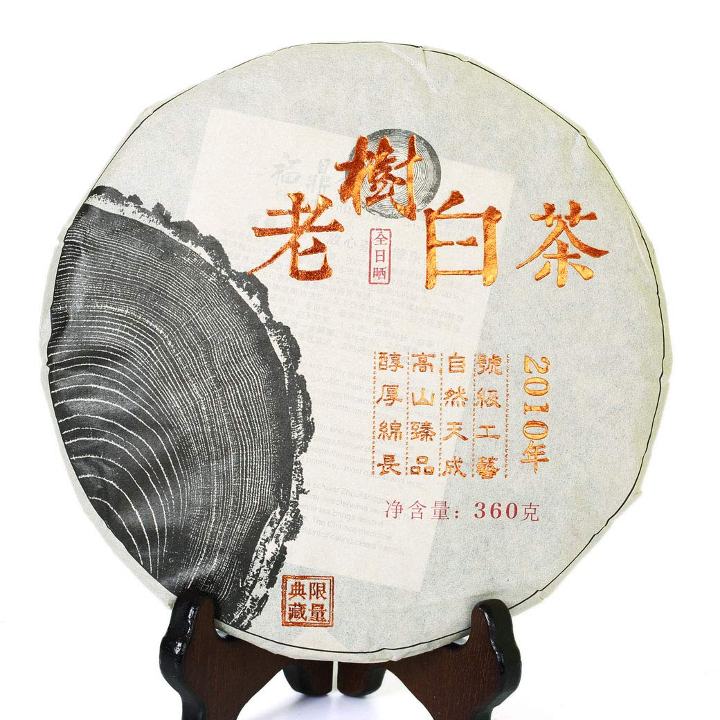 360g (12.69 oz) 2010 Year FuDing Supreme Ancient Tree GongMei Tribute Eyebrow Aged Chinese White Tea Cake
