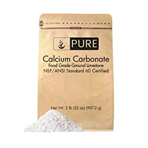 Pure Calcium Carbonate Powder (2 lb) by Pure Organic Ingredients, Multi-Purpose Powder, Dietary Supplement, Antacid, Acid Neutralizer, Food Preservative, Brewing/Wine Making, Eco-Friendly Packaging