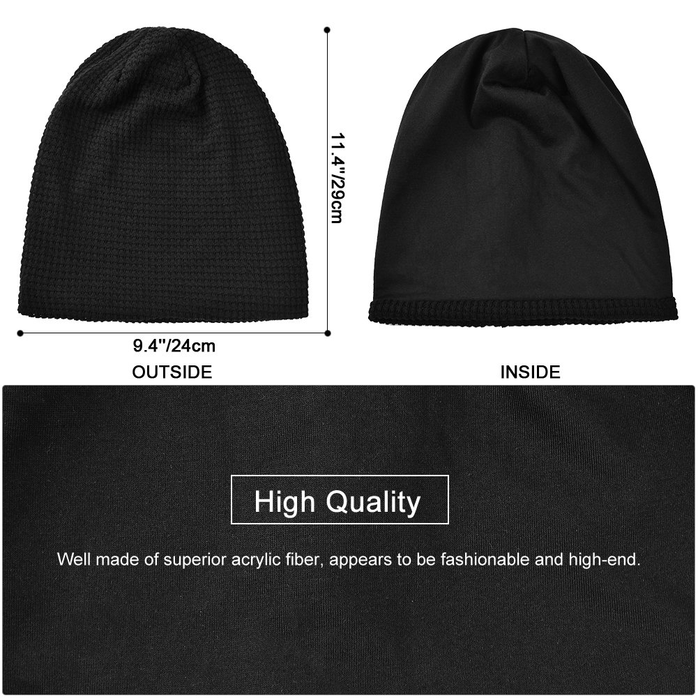 eda307a8bd6 Vbiger Unisex Warm Knitted Hat Winter Knitted Hats Slouchy Beanie ...