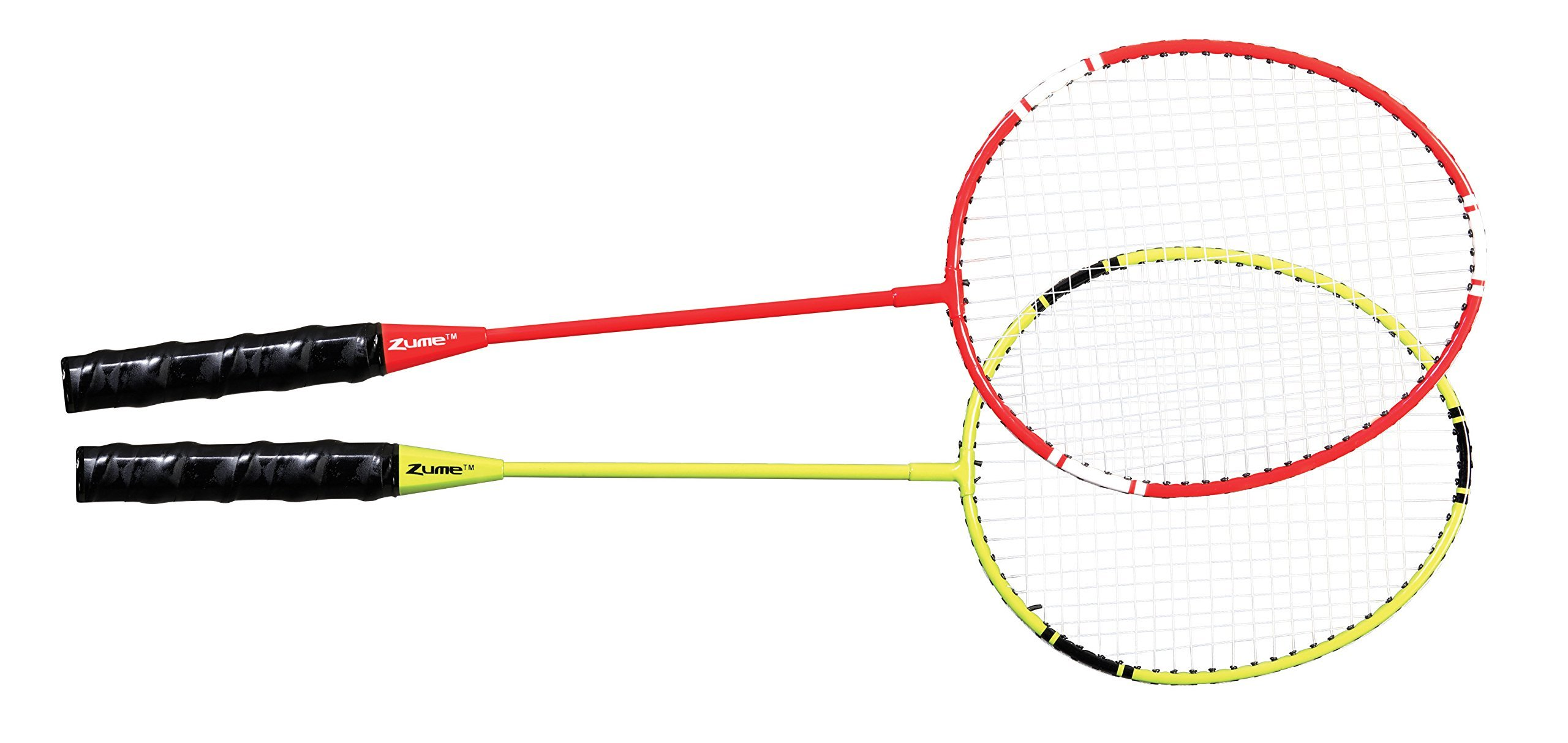 Zume Games Portable Badminton Set with Freestanding Base - Sets Up on Any Surface in Seconds - No Tools or Stakes Required (Renewed) by Zume (Image #5)