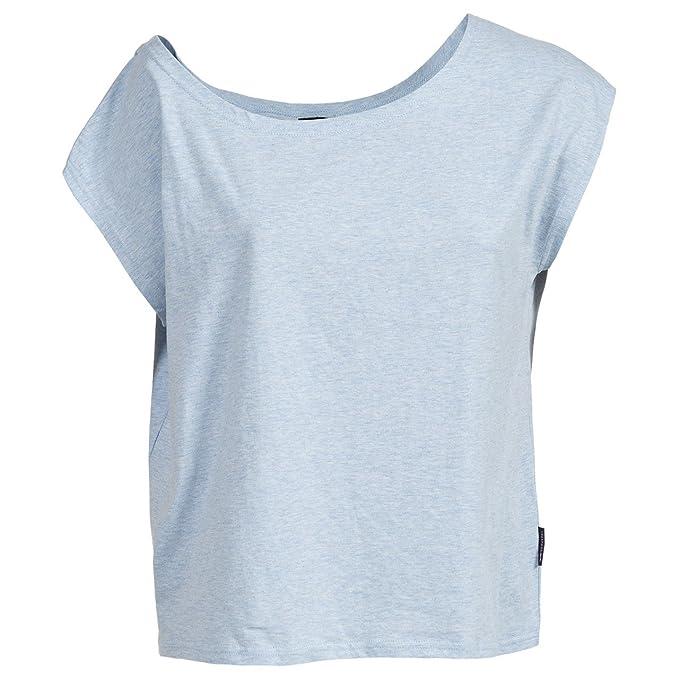 Trespass - Camiseta de Manga Corta con Hombros caidos Modelo Bacall para Mujer (Mediana (