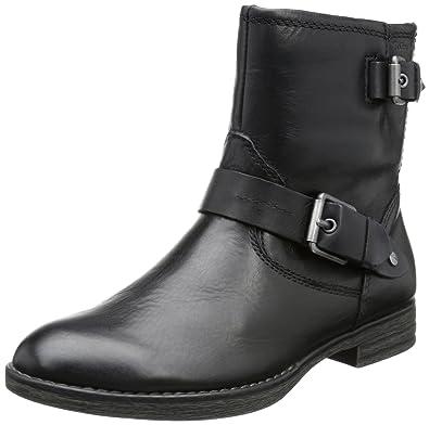 Tamaris Womens Biker Boots Black Schwarz BLACK 001 Size 8