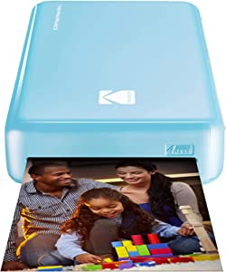 Kodak Mini 2 HD Wireless Portable Mobile Instant Photo Printer, Print Social Media Photos, Premium Quality Full Color Prints – Compatible w/iOS & Android Devices (Blue)
