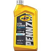 Pennzoil Ultra Platinum Full Synthetic 0W-40 Motor Oil (1 Quart, Single Pack)
