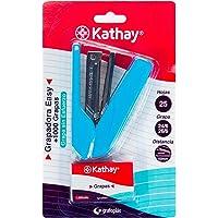 Kathay 86000330. Grapadora Easy con 1000 grapas 24/6 26/6, Hasta 25 Hojas, Colores Aleatorios: Negro, Celeste, Rojo…