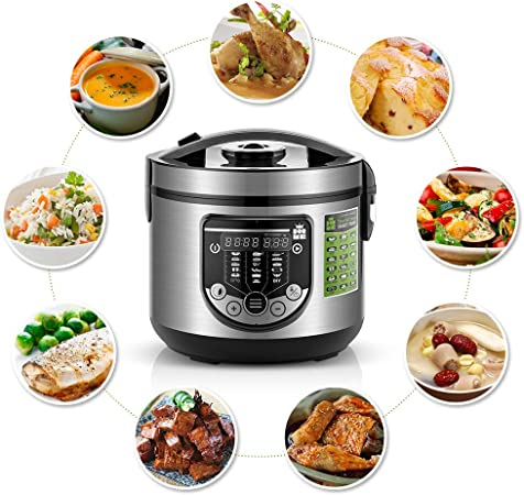 Forme Robot de Cocina Multifunción Capacidad 5 litros Programable hasta 24h Cocina Automáticamente 17 Menús Preconfigurados y Función Mantener Caliente hasta 24h I Incluye Cubeta Antiadherente: Amazon.es